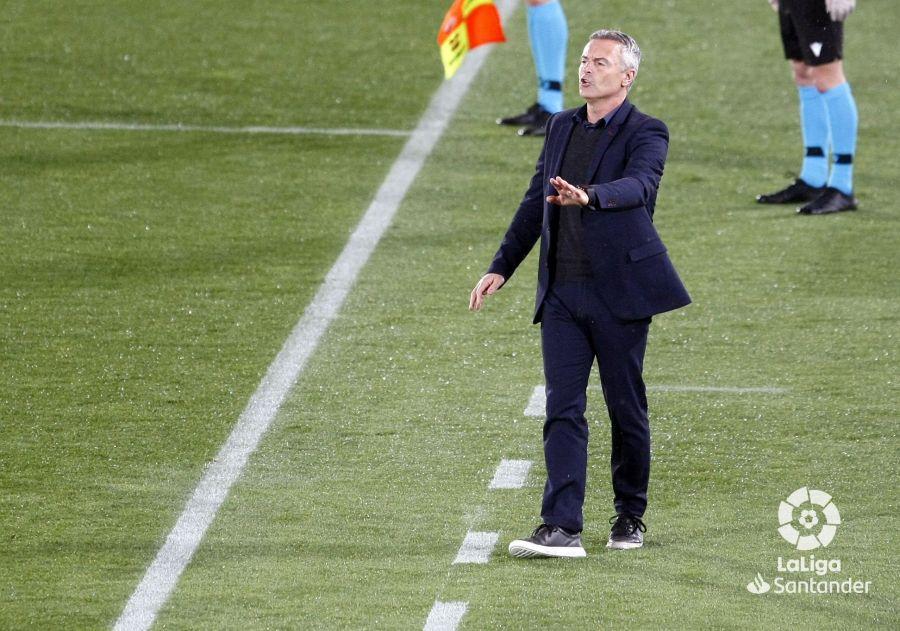 Fran Escribá, en el Elche-Real Valladolid