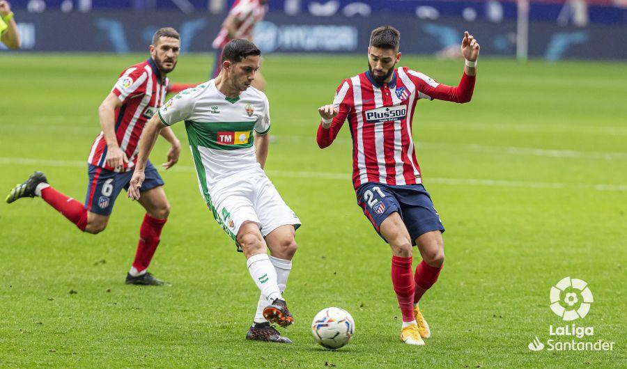 Marcone y Carrasco, en el Atleti-Elche
