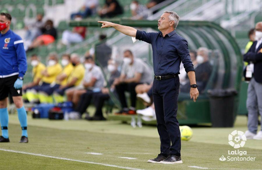 Fran Escribá, en el Elche-Athletic